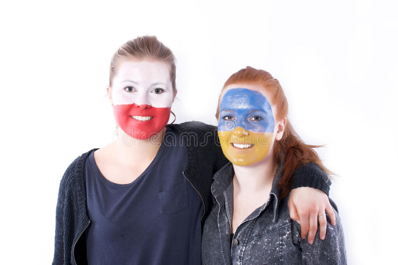 Football soccer fans friends stock images