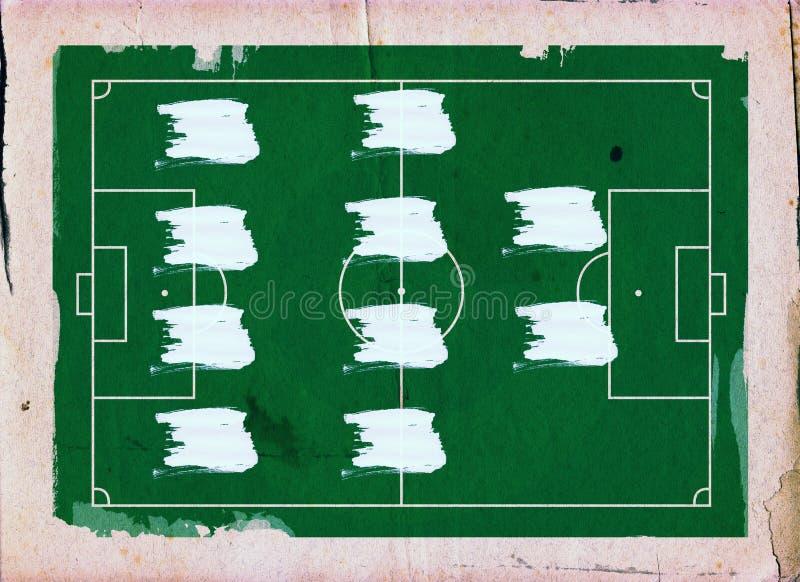 Football (Soccer Field) formation , 4-4-2 royalty free illustration