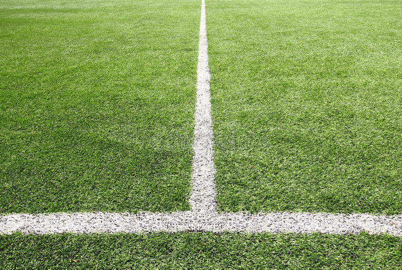 Football And Soccer Field Grass Stadium Stock Photography