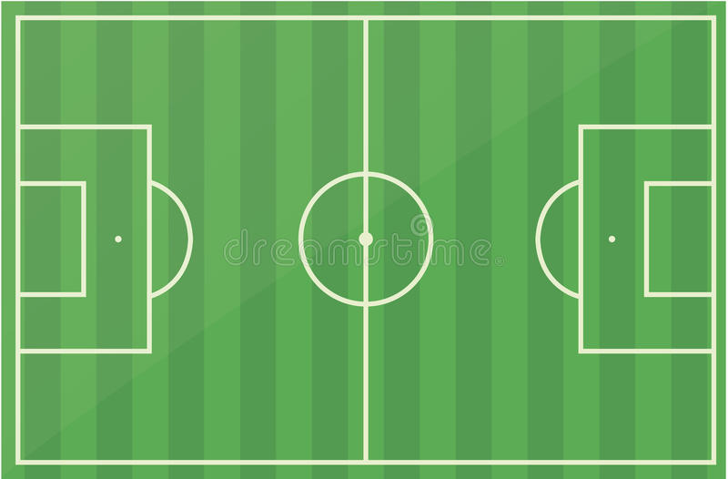 Download Football Soccer Field Pitch Vector Stock Vector - Image: 11596436
