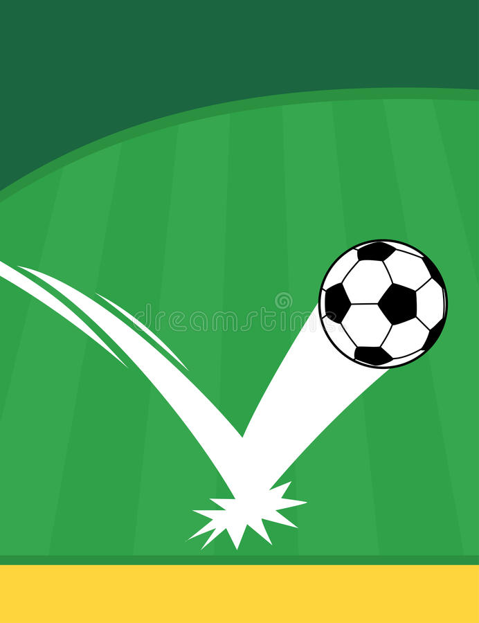 Football Or Soccer Flyer Template Stock Vector Illustration Of