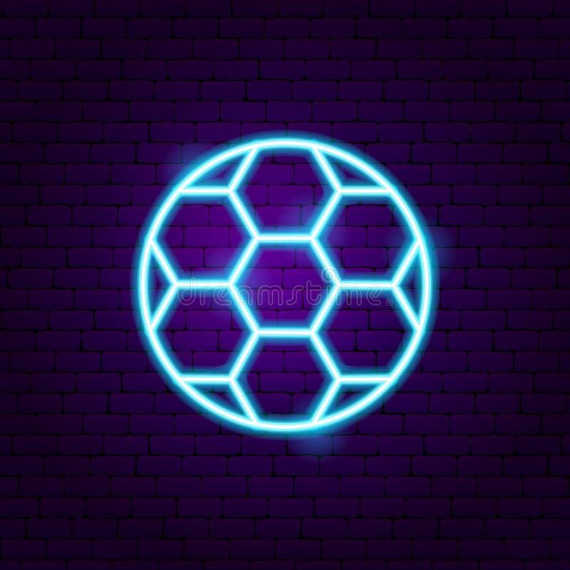 Football Soccer Neon Sign vector illustration