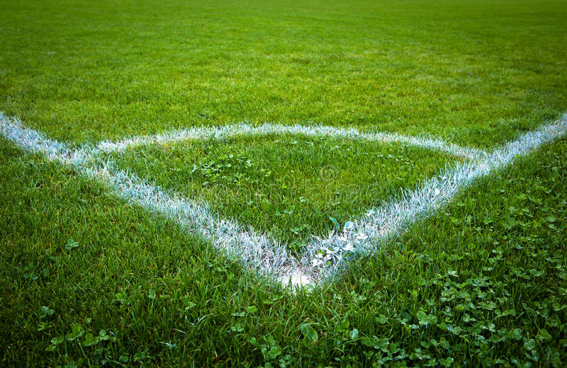 Football/soccer Pitch Royalty Free Stock Images