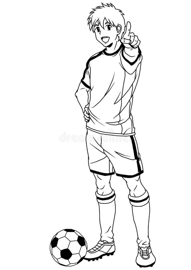 Football soccer player stock vector. Illustration of ball ...