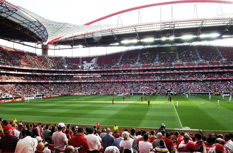 Football or Soccer Stadium - Benfica Team - Sports royalty free stock photo