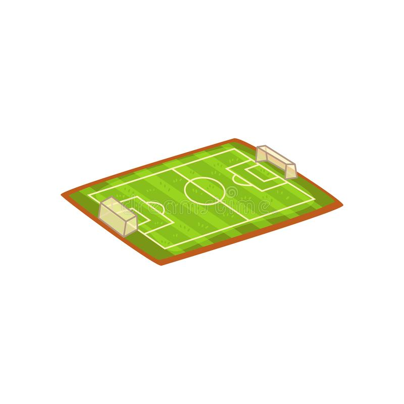 Football or soccer stadium, sports ground vector Illustration on a white background. Football or soccer stadium, sports ground vector Illustration isolated on a vector illustration