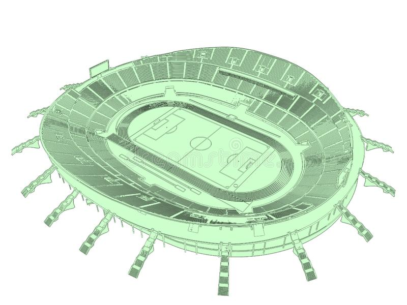 Football Soccer Stadium Vector 01 royalty free illustration