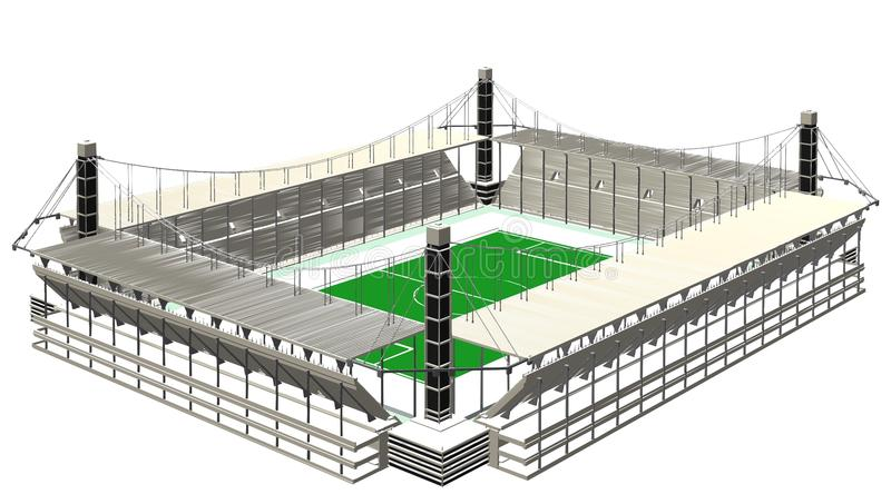 Football Soccer Stadium Vector vector illustration