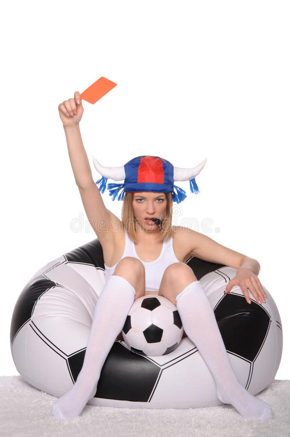 Download Football And Soccer Supporter Showing Red Card Stock Image - Image: 23973717