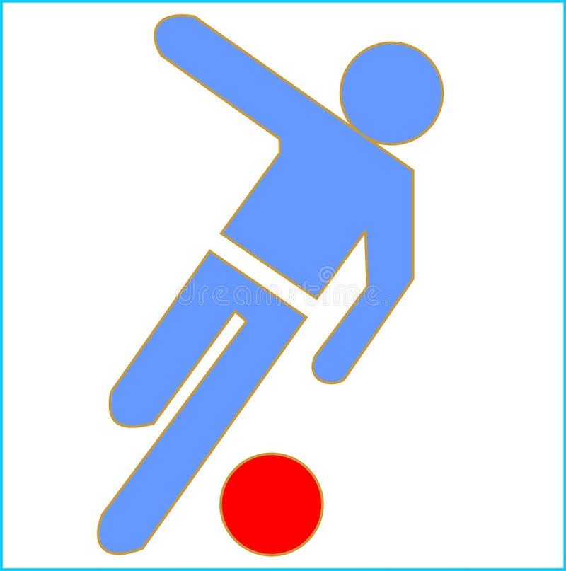 Football (soccer) symbol stock photo