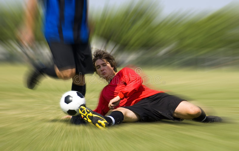 Download Football - Soccer - Tackle! Stock Image - Image: 1136827