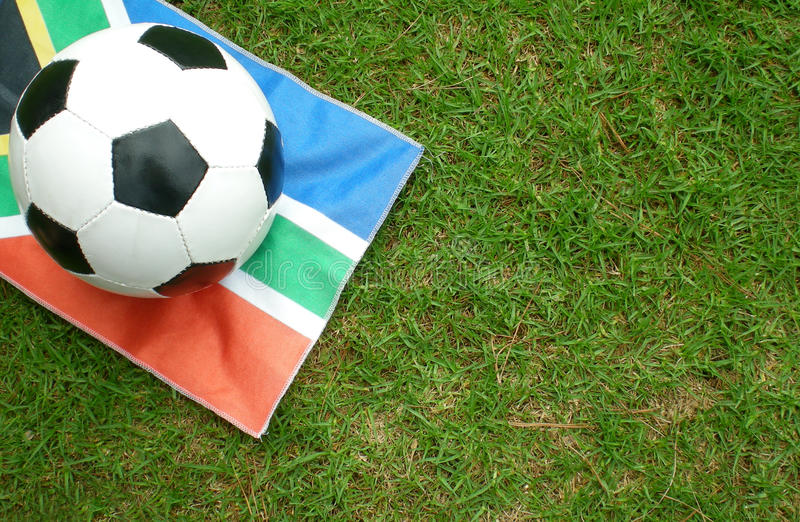 Download Football On South African Flag Stock Photo - Image: 11722120