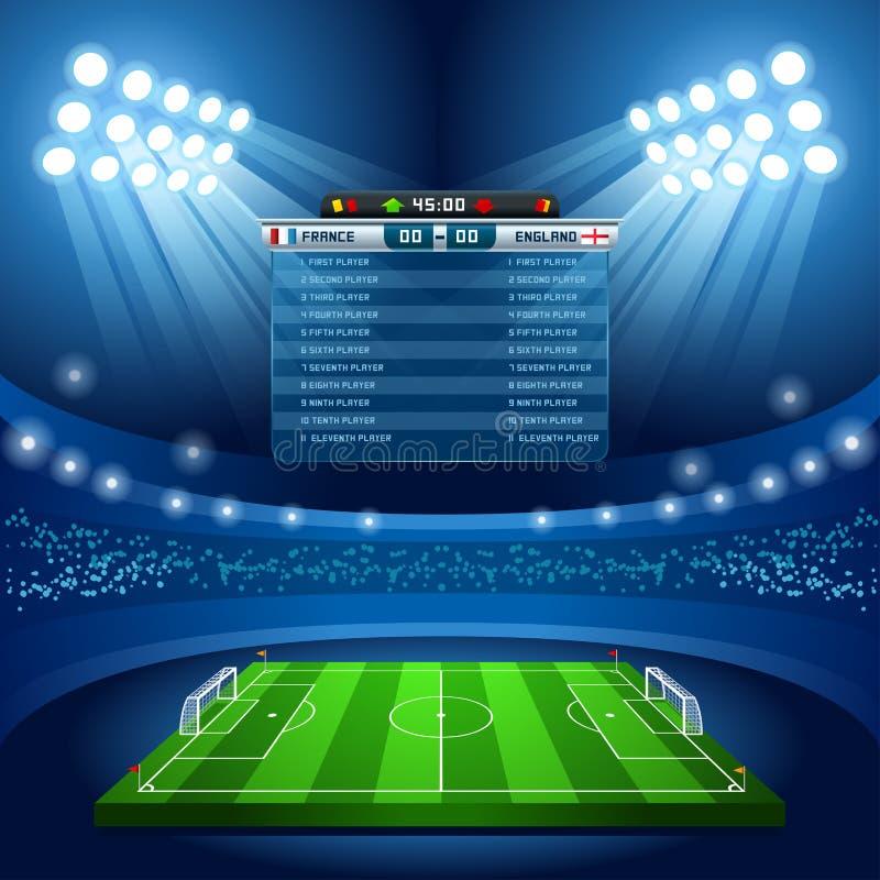 Football 01 Sport Background stock illustration