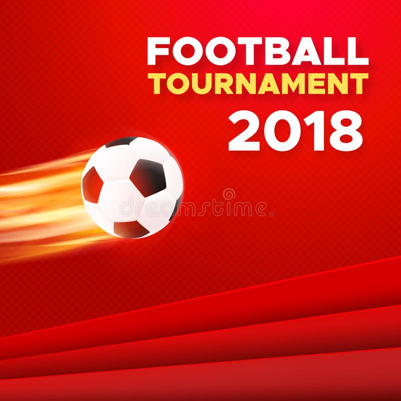Football 2018 poster design. Russia colors royalty free illustration