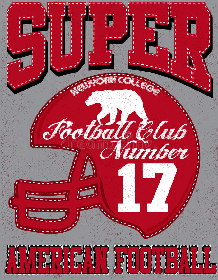 Football sport typography; t-shirt graphics; vectors royalty free illustration