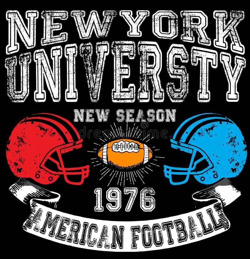 Football sport typography; t-shirt graphics; vectors stock illustration