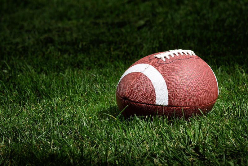 Football in the spotlight royalty free stock photos