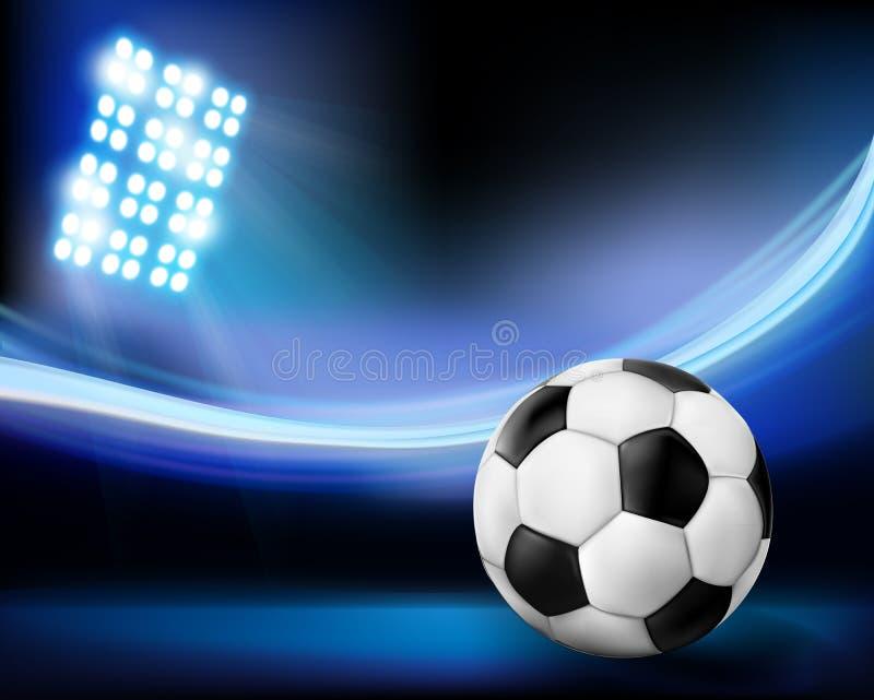 Football on the stadium.