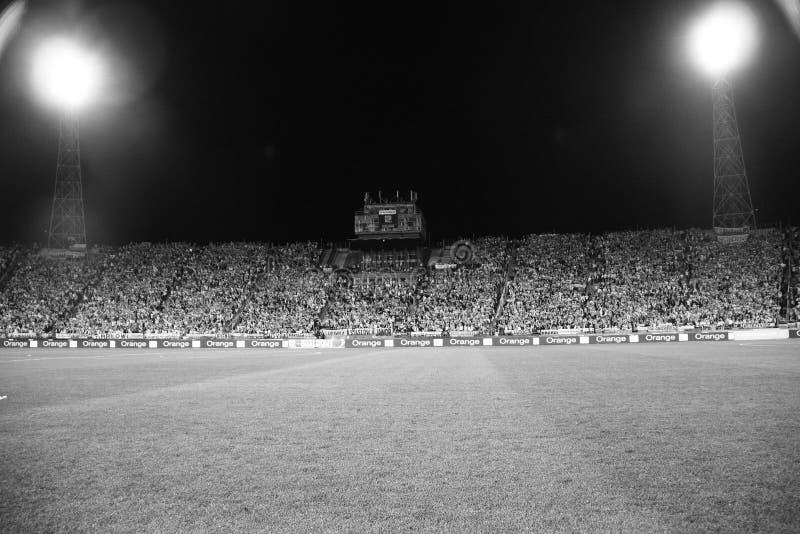 Football Stadium B&W stock images