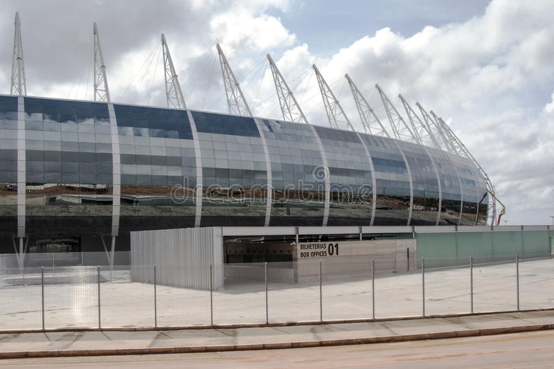The football stadium of Fortaleza, Brazil. The football stadium Plácido Aderaldo Castelo, also known as the Castelão, in Fortaleza, Brazil, is one of the stock images