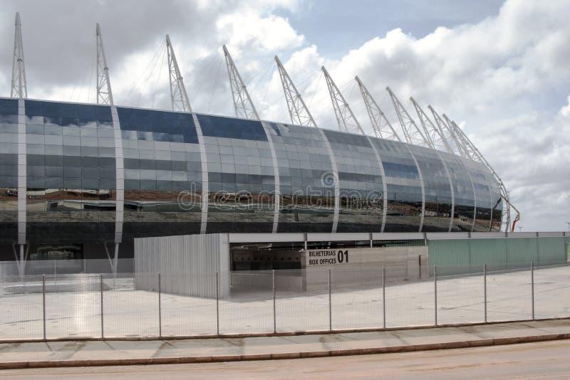 The football stadium of Fortaleza, Brazil. The football stadium Plácido Aderaldo Castelo, also known as the Castelão, in Fortaleza, Brazil, is one of the stock images
