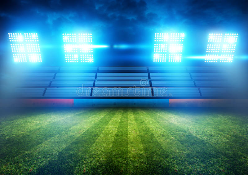 Football Stadium Lights stock photos