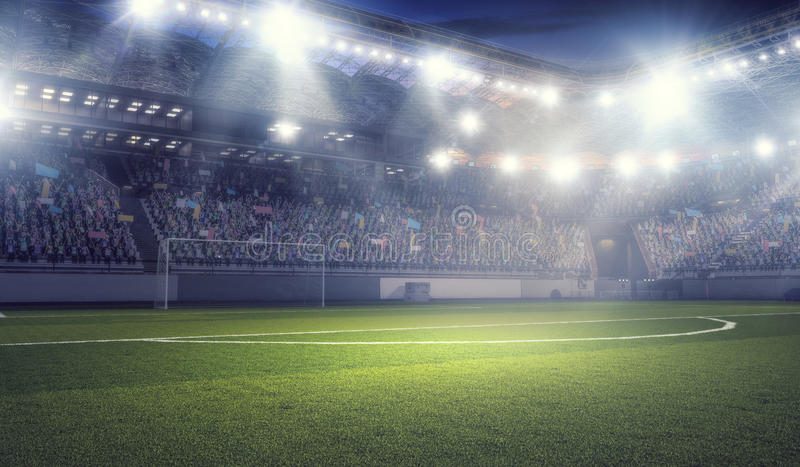 Football stadium in lights mixed media stock photo image of download football stadium in lights mixed media stock photo image of summer outdoor mozeypictures Image collections