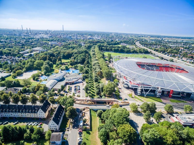 Download Football Stadium In The Sun, Aerial Editorial Photography - Image: 83710157