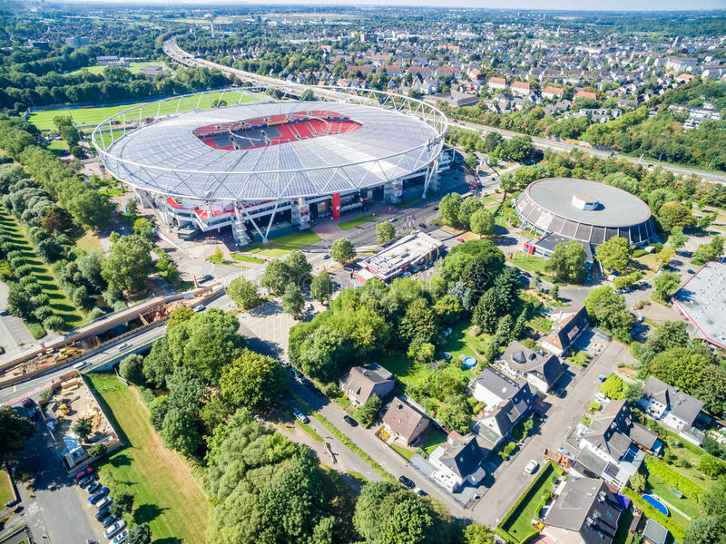 Download Football Stadium In The Sun, Aerial Editorial Image - Image: 83710835