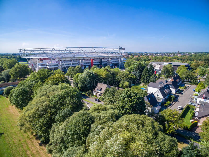 Download Football Stadium In The Sun, Aerial Editorial Stock Photo - Image: 83711063