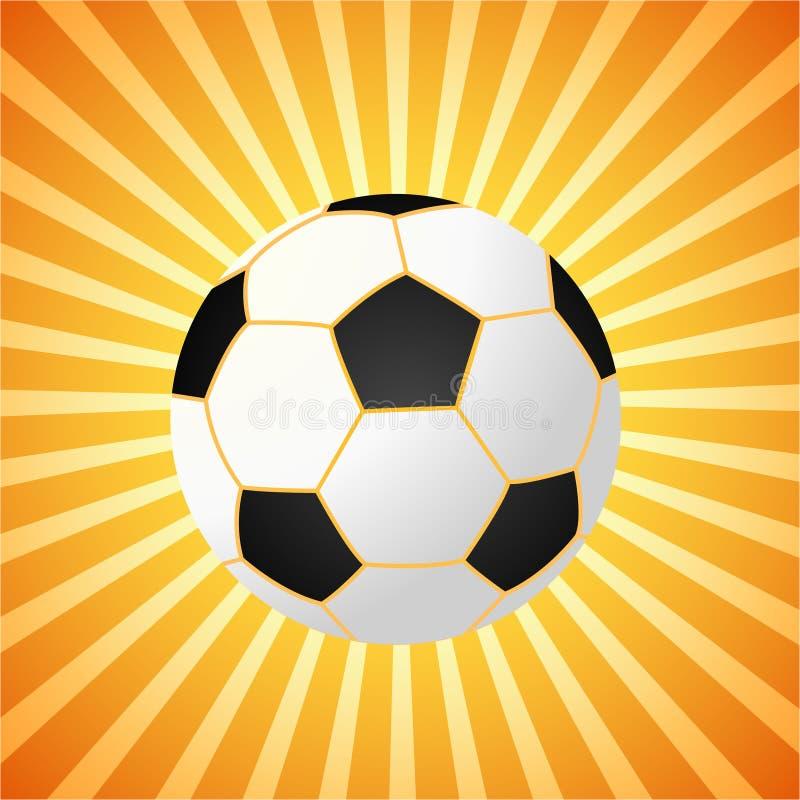Football - summer. Football on the orange background royalty free illustration