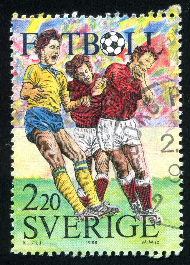 Football. SWEDEN - CIRCA 1988: stamp printed by Sweden, shows Football, circa 1988 stock images