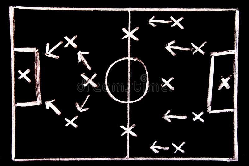 Download Football tactic stock photo. Image of challenge, distance - 12174384