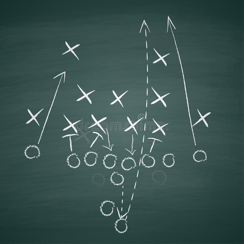 Football tactic on board royalty free illustration