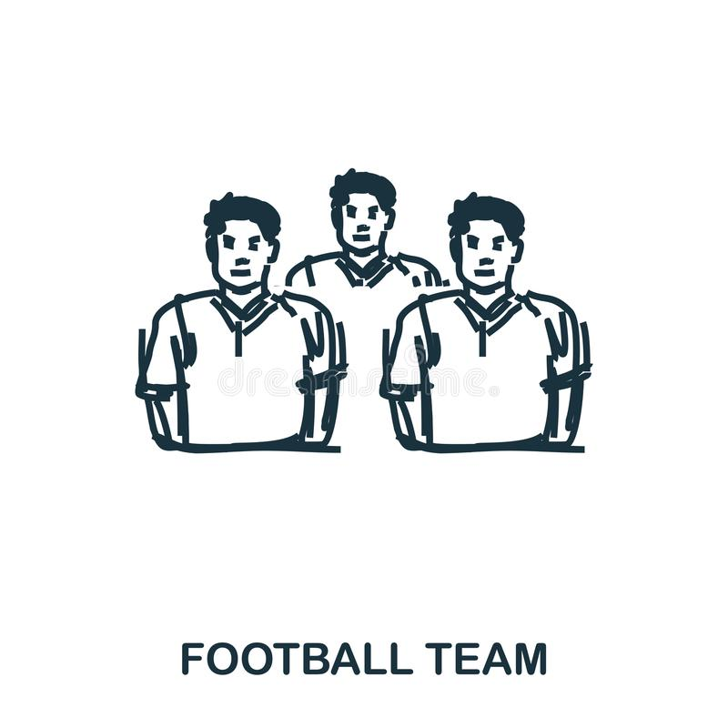 Football Team icon. Mobile apps, printing and more usage. Simple element sing. Monochrome Football Team icon vector illustration