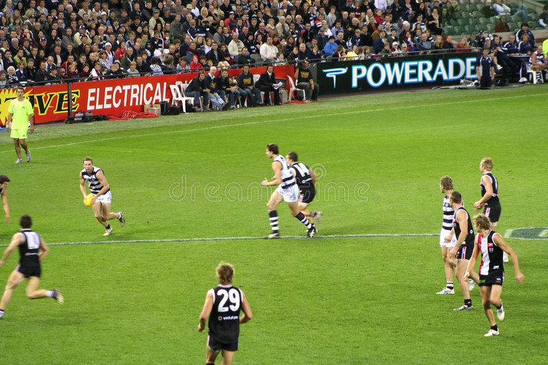 Download Football teams editorial photo. Image of arena, australian - 4285996