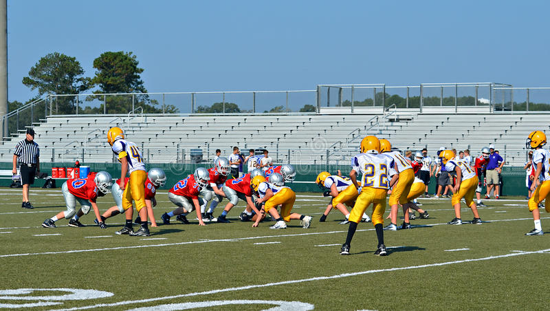 Football Teams at the Line stock photography