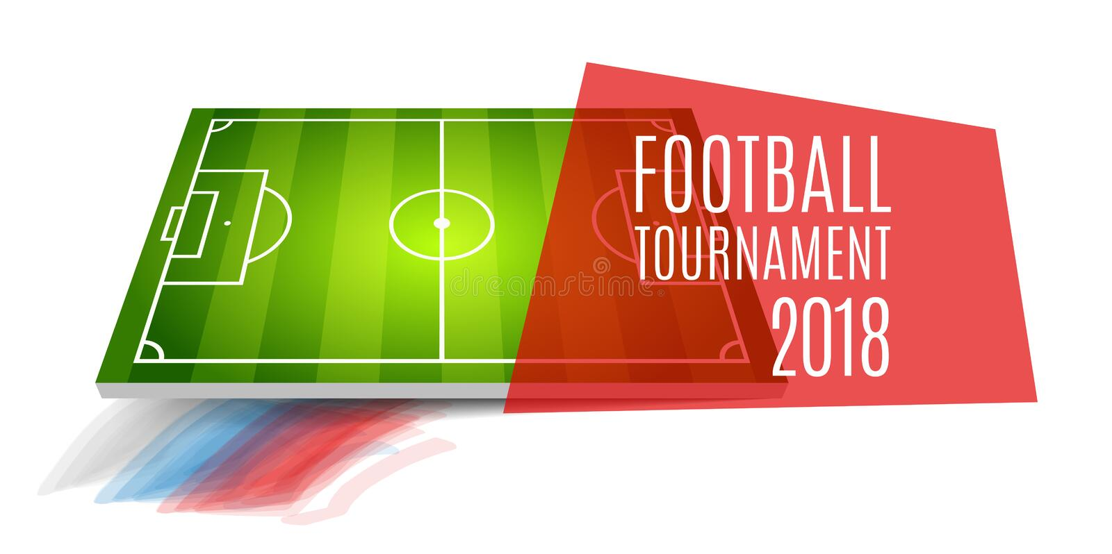 Football tournament, cup 2018. Soccer championship background design. Element for design cards, invitations, gift cards royalty free illustration