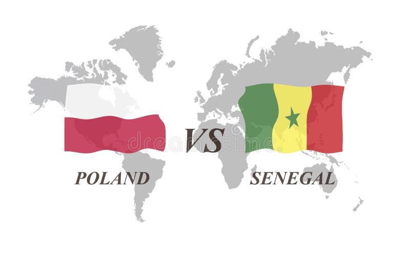 Football Tournament Russia 2018. Group H. Poland vs Senegal. A Football Tournament Russia 2018. Group H. Poland vs Senegal vector illustration
