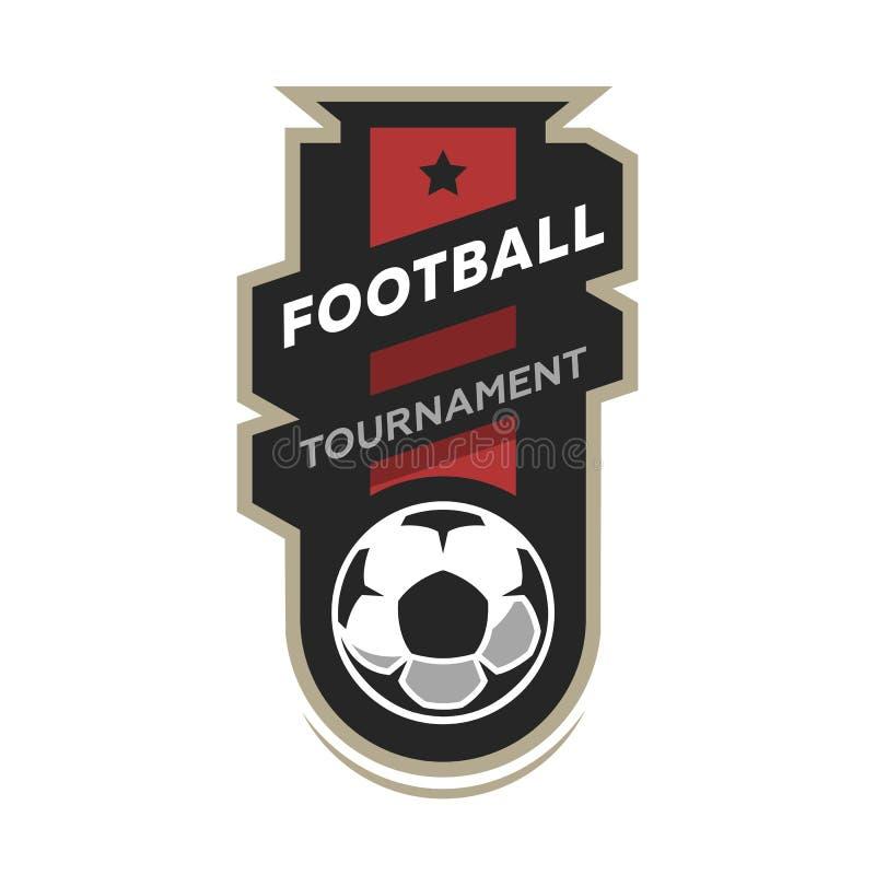 Football tournament, soccer logo. Football tournament, soccer logo, emblem Vector illustration royalty free illustration