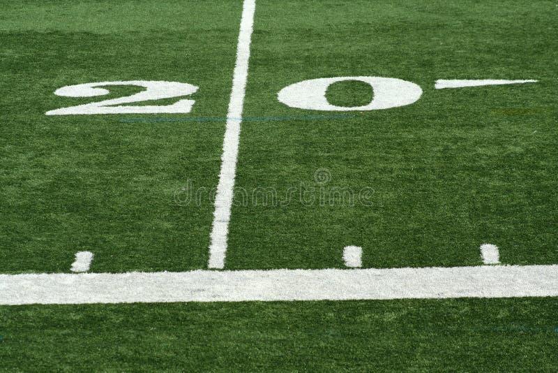 Football twenty yard m royalty free stock image