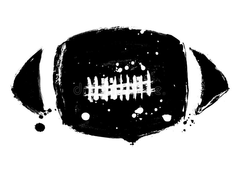Football vector royalty free illustration