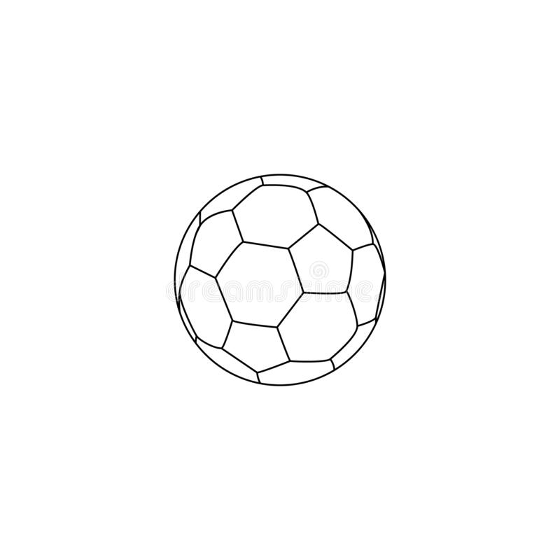 Football vector icon, elemnt emblem soccerball. Vector illustration isolated in white background. Line style royalty free illustration