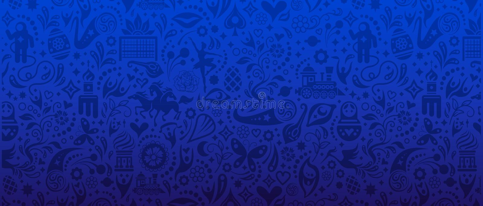 Football Cup Banner. An unofficial vector Football Cup banner royalty free illustration