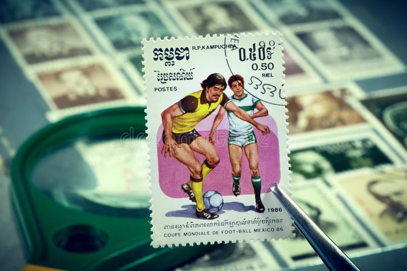 Football World Cup 1986 Mexico stock image