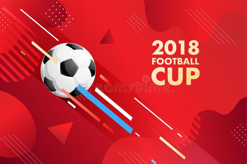 Football World cup Russia 2018 groups. Web banner royalty free illustration