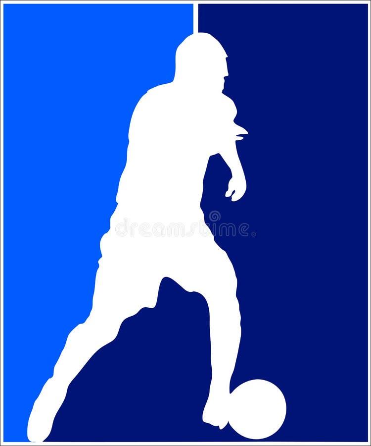 Footballer illustration de vecteur