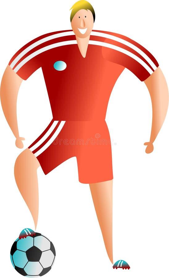 footballer stock illustrationer