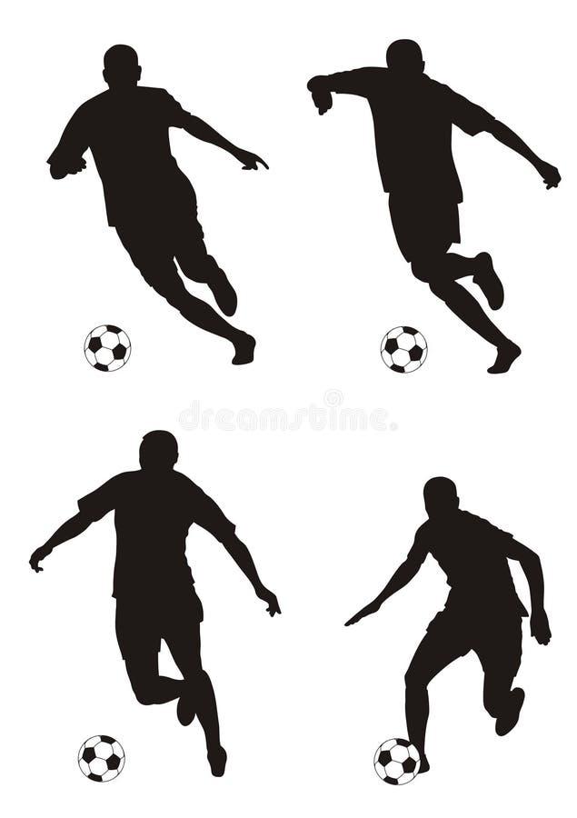 Download Footballer stock vector. Image of footballer, attack, sport - 5871196