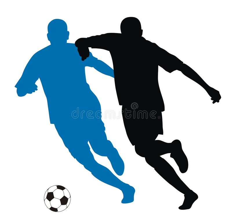 Download Footballer stock vector. Image of illustration, silhouette - 5871199